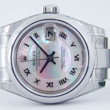 ROLEX - NEW Ladies Stainless DateJust - Mother of Pearl Deco - 179160 SANT BLANC