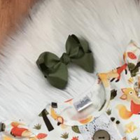 Olive Green 3in hair bow