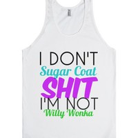 sugar coat-Unisex White Tank