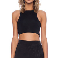 Assali Rake Top in Black