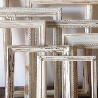 Antique White Picture Frame Set Of 9 Shabby Chic Wall Decor