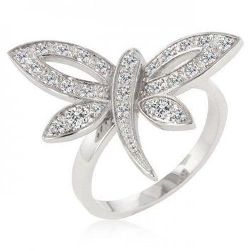 Dragonfly Inspired Ring (size: 08) (pack of 1 ea)