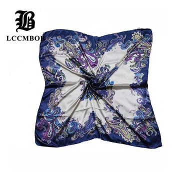 LMFU3C 2015 Big Size 90*90cm Silk Square Scarf Women Fashion Brand High Quality Cheap Imitated Silk Satin Scarves Polyester Shawl Hijab