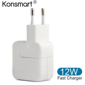 12w 2.4A fast charge USB charger for iPad portable usb charger for iPhone 5 5s 6 6s 7 8 X Plus Tablet Charger usb Power Adapter