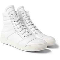 Balmain Leather High Top Sneakers | MR PORTER