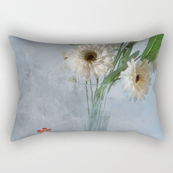Wildflower Still LIFE Rectangular Pillow by Theresa Campbell D'August Art