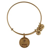 Alex and Ani New York University Logo Charm Bangle - Russian Gold