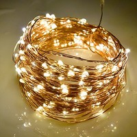 Homestarry 160 Ft / 480 LEDs Starry String Lights,8 Lightning Modes,Solar Powered String Light, Outdoor String Lights for Garden, Patio, Wedding and Christmas Party,Warm White