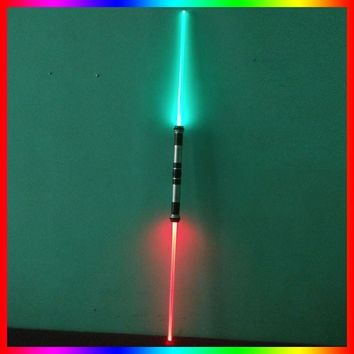 Star Wars Force Episode 1 2 3 4 5 2 pcs/lot  Lightsaber Cosplay Props Kids Double Light Saber Toy Sword for Boys Sound Led Flashing Light Kids Toys Gifts AT_72_6