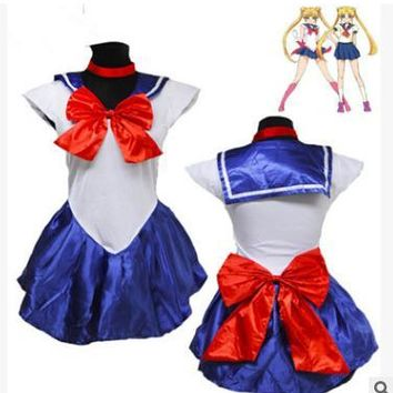 Athemis Anime Sailor Moon Minako Aino / Sailor Venus Cosplay Costume custom made Dress High Quality