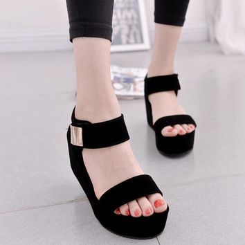 Womens Platform Sandals Shoes High Heel wedges Open Toe Platform Gladiator Trifle Sandals