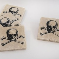 Supermarket: Skull & Crossbones coaster set from The Painted Lily