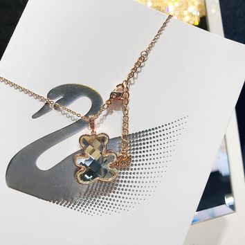 HCXX 022 Ms. Swarovski's Cute Teddy Bear Clavicle Necklace
