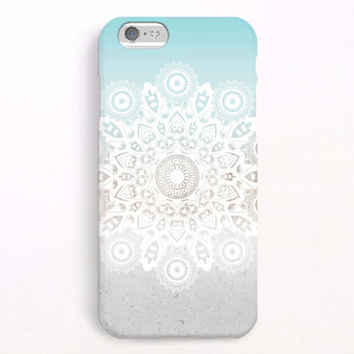 iPhone 6 Case, iPhone 6 Plus Case, iPhone 5S Case, iPhone 5 Case, iPhone 5C Case, iPhone 4S Case, iPhone 4 Case - Mandala blue ombre