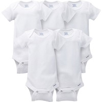 5-pack White Onesuits® Brand Bodysuits