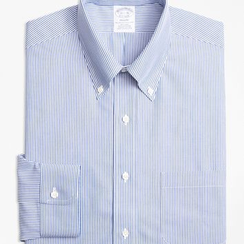 Regent Fitted Dress Shirt, Non-Iron Candy Stripe - Brooks Brothers