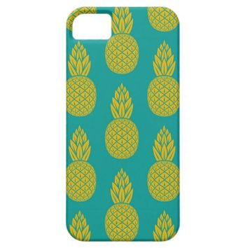 Tropical Hawaiian Pineapple Pattern iPhone 5 Case