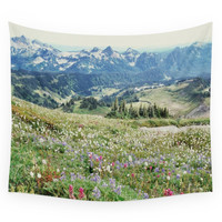 Society6 Wildflower Meadow Wall Tapestry