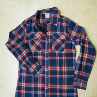 Plaid Lightweight Flannel with Roll-Tab Sleeves