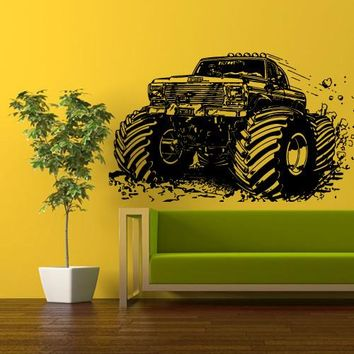 Wall Vinyl Decal Sticker Bedroom Decal Truck Jeep Lorry Tk Auto z329