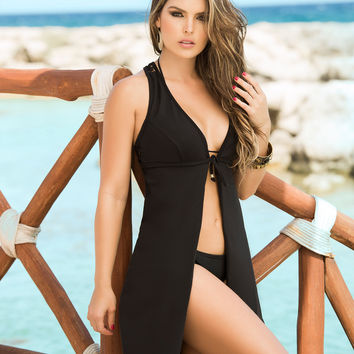 Racerback Beach Cover Up Dress-Swimwear Cover Up