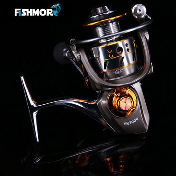 Fishmore 2016 New all metal  spinning Carbon reel 12+1BB Trolling Fishing Sea reel for lure rod sea rod YK13