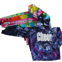 Cheerleading Tie Dye Sweatshirt- Cheer Logo