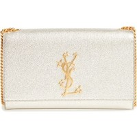 Saint Laurent Kate Star Logo Metallic Calfskin Clutch | Nordstrom