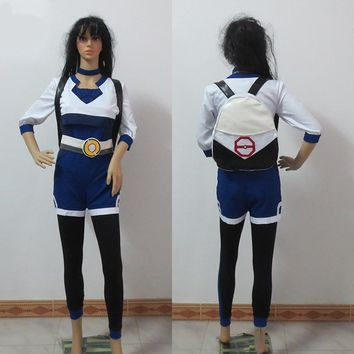Pokemon Go Cosplay Costume The Primary Trainer Blue Clothing With Bag For Christmas Halloween Customized Any Size
