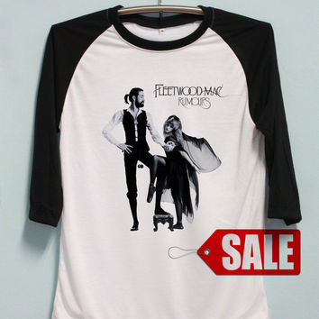 Fleetwood Mac Shirt Stevie Nicks Tshirt Long Sleeve Unisex Baseball Shirts Raglan Jersey TShirt Black White Tee Men Women S M L