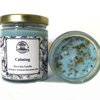 Calming Soy Candle for Stress, Anxiety, Tension & Discord