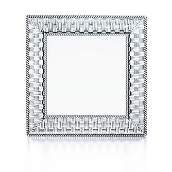 Tiffany & Co. -  Woven square platter in crystal, small.