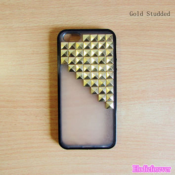 50% off,Studded iPhone 5 Case,Antique Bronze studded iphone case,studded iphone   5,iphone case cover skin,black,green,pink case (D001)
