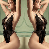 women lady sexy lingerie hot lace dress open bra erotic teddy lingerie sexy costumes bodystocking sex products black 2016 new