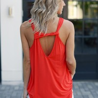 Michael Stars Cut Out Blouson Tank-Samba(Red)-$88.00 | Hand In Pocket Boutique