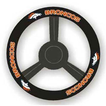 Denver Broncos NFL Leather Steering Wheel Cover