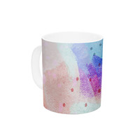 "Iris Lehnhardt ""Summer Pastels"" Multicolor Painting Ceramic Coffee Mug"