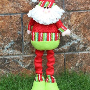 Christmas Gift Party Decorative Stretched Santa Puppet Toy