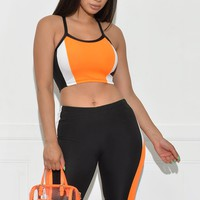 Kaelynn Set - Orange/Black