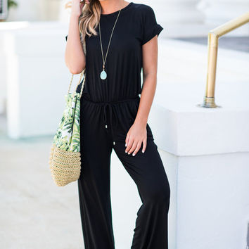 The Look Of Love Jumpsuit, Black