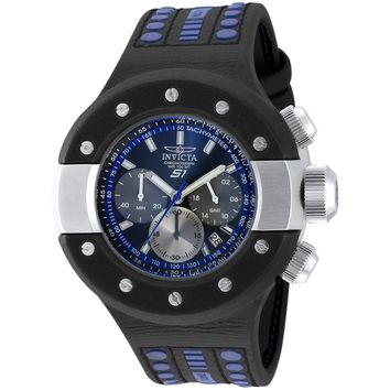 Invicta Men's 19179 S1 Rally Quartz Chronograph Black, Gunmetal, Blue Dial Watch
