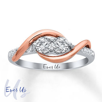 Ever Us Two-Stone Ring 1/2 ct tw Diamonds 14K Two-Tone Gold