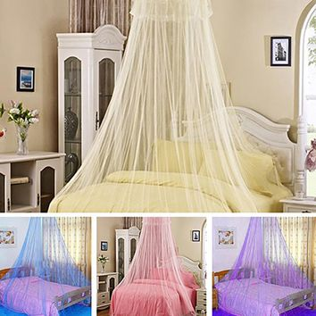 Elegant Lace Insect Bed Canopy Netting Curtain Round Dome Mosquito Net Bedding