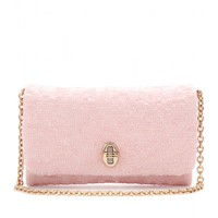 DOLCE & GABBANA - Sequined shoulder bag in Baby Pink