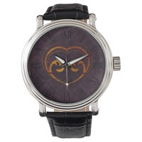 Abstract Steampunk Heart Watch