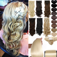 "Long 24"" Hair Extension Clip Ins US Shipping"