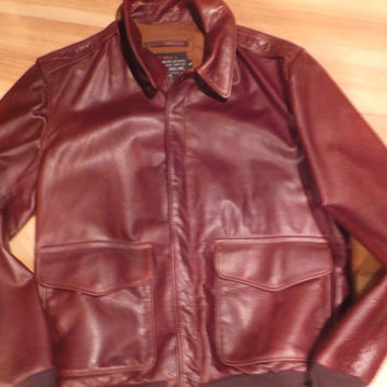 SCHOTT NYC A2  FLIGHT LEATHER JACKET SIZE XX-LARGE MADE IN USA  GREAT SKINS