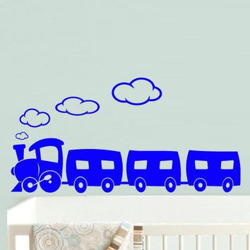 Wall Vinyl Decal Sticker Bedroom Decal Nursery Kids Baby Train Magic  z518
