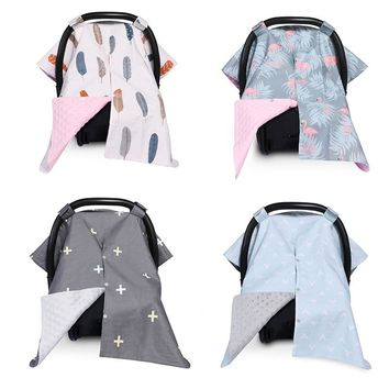 Fashion Carseat Canopy Cover Nursing Cover Breathable Baby Car Cotton Canopy | Infant Car Seat Canopy Nursing Cover for Moms