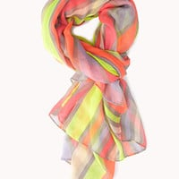 Neon Pop Striped Scarf